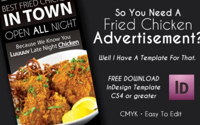 Print Advertisement Fried Chicken – InDesign CS5