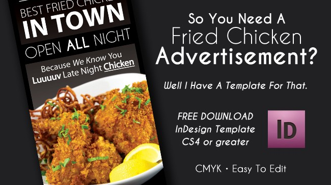 Print Advertisement Fried Chicken – InDesign CS5