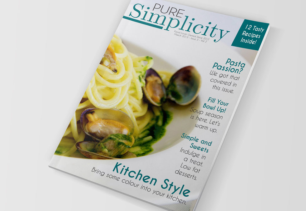 Food Magazine Template – Indesign CS4+ Free